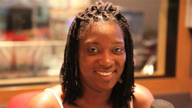 Vanessa Kanga, connue sous le nom de Veeby, de passage dans nos studios.