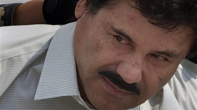 Le célèbre narcotrafiquant mexicain, Joaquin Guzman, surnommé El Chapo, lors de sa capture en février 2014.