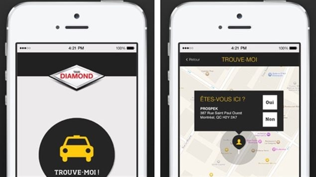 Taxi Diamond a lancé son application mobile.
