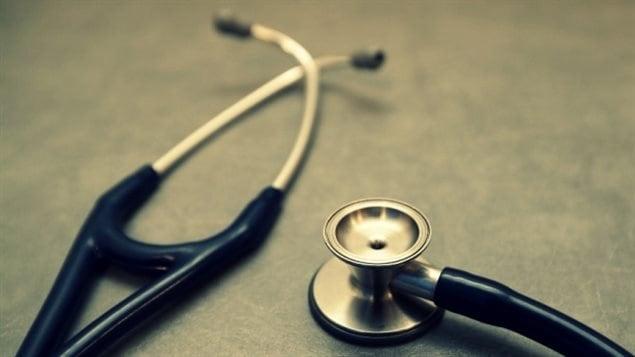 Un stéthoscope de médecin.