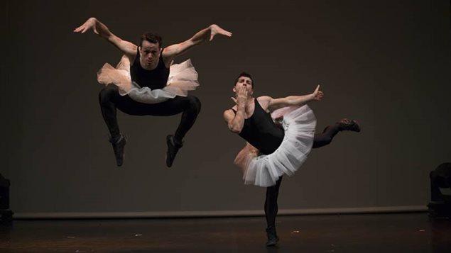 Vincent Dubé et Cbastien Tardif forment le duo acrobatique Les Vitaminés.
