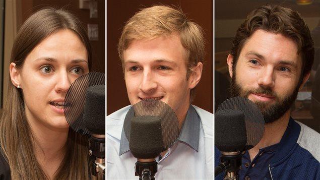 Les chefs d'orchestre Dina Gilbert, Andrei Feher et Jean-Michaël Lavoie