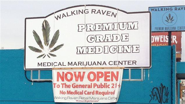 Un centre de vente de marijuana médical au Colorado