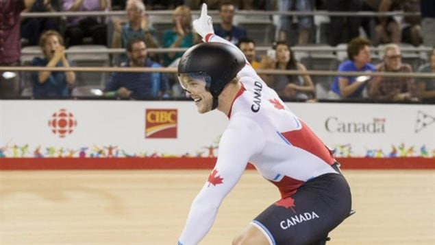 Le cycliste canadien Hugo Barrette