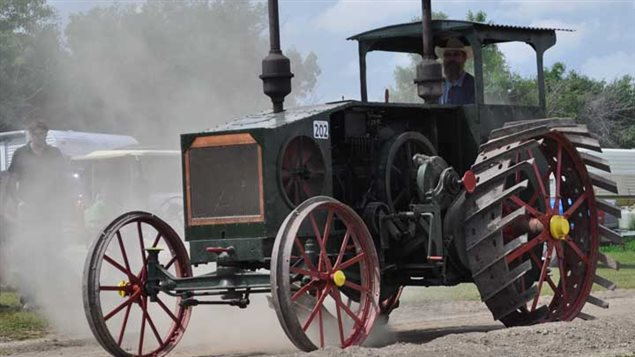 Some extremely interesting antique tractors turn up, this one in the 2010 annual show