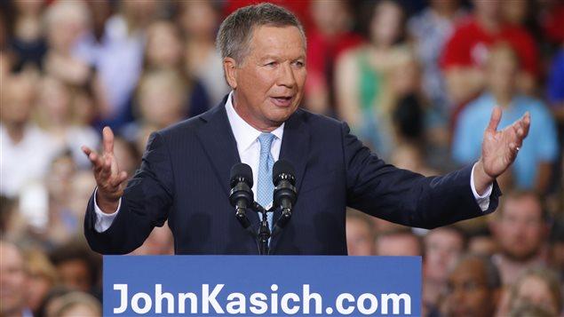 John Kasich a lancé sa campagne pour remporter l'investiture républicaine à Colombus, en Ohio.