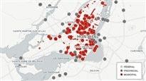 La carte de tous les chantiers à Montréal