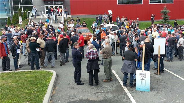 Manifestation des agricuteurs en Beauce pour protéger le système de gestion de l'offre.
