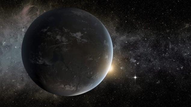 Impression artistique d'une planète située à l'extérieur de notre système solaire.