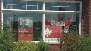 Le bureau du candidat libéral dans Louis-Saint-Laurent, Youri Rousseau