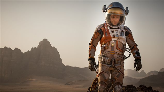 Matt Damon dans le film <i>Seul sur Mars</i>