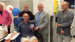 Un cinquième donneur dépasse le 1000e don de sang