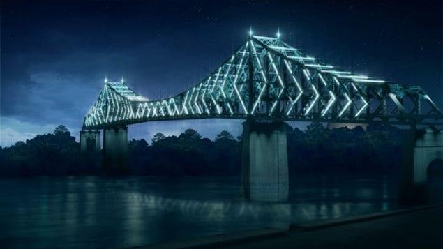 Le pont Jacques-Cartier sera illuminé pour les festivités du 375e de Montréal, et il le restera jusqu'en 2027.