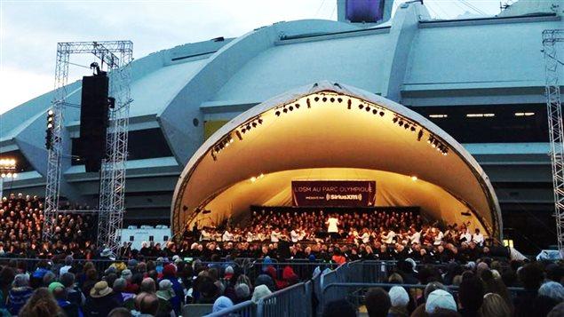 L'OSM en concert sur l'Esplanade du Stade olympique