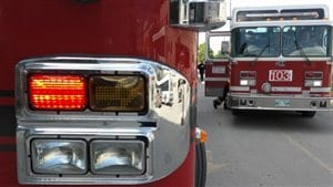 Des camions de pompiers à Winnipeg