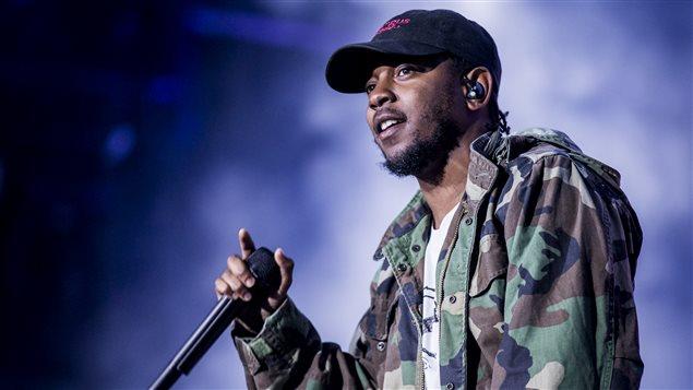 Kendrick Lamar en concert � Montr�al � l'occasion d'Osheaga.