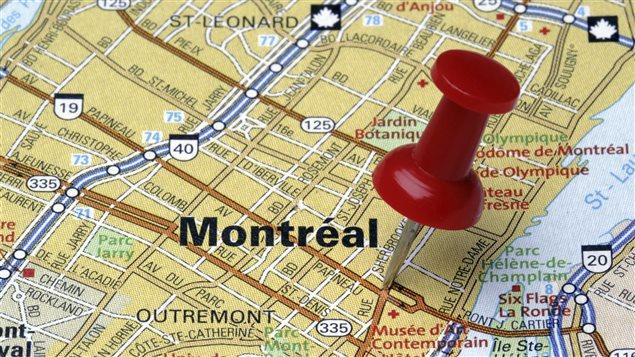 Carte partielle de la ville de Montréal