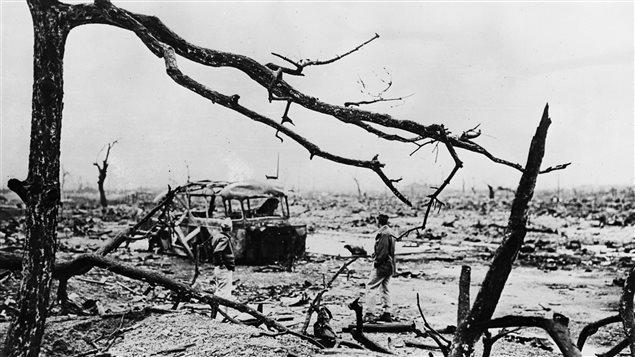 La ville d'Hiroshima au Japon suite au bombardement des États-Unis en 1945