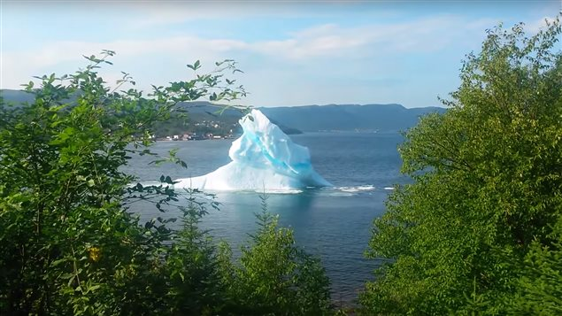 Le public pourra observer un iceberg comme celui-ci qui roule sur lui-même près de King's Point à Terre-Neuve-et-Labrador.