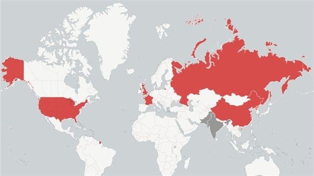 Pays dotés de l'arme nucléaire