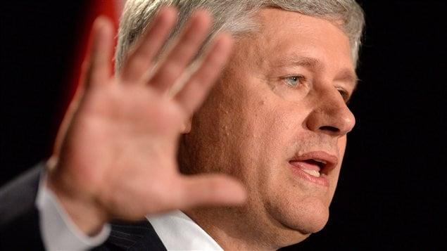 Le chef conservateur Stephen Harper