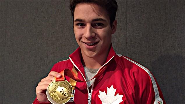 Le nageur canadien James Leroux, médaillé d'or et Jeux parapanaméricains.