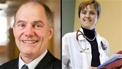 Les Drs Michel Labrecque et France L�gar� re�oivent les grands honneurs du CMFM.