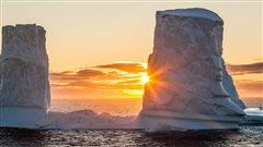 Une photo d'un iceberg prise lors d'une expédition de la fondation Students on Ice.