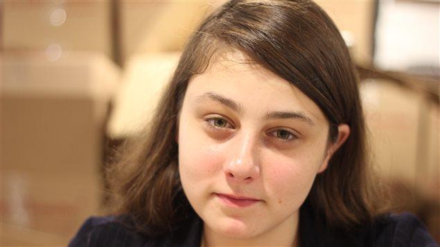 Casandra Poitras, candidate pour le Parti vert dans Longueuil-Saint-Hubert