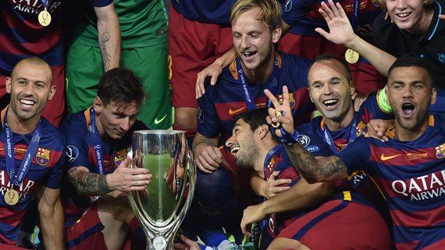 Lionel Messi et le FC Barcelone sont les champions de la SuperCoupe d'Europe
