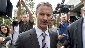 Nigel Wright à son arrivée au palais de justice, le 13 août