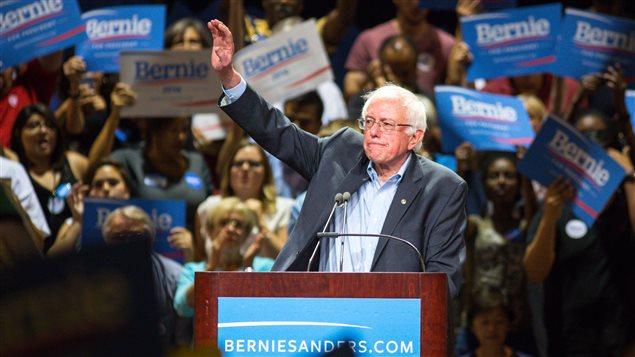 Le candidat démocrate à la présidentielle de 2016, Bernie Sanders, en juillet 2015