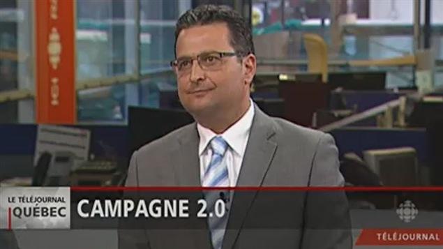 Stéphan Viau de passage au téléjournal de Québec.