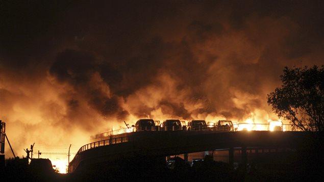 Incendio en Tianjin.