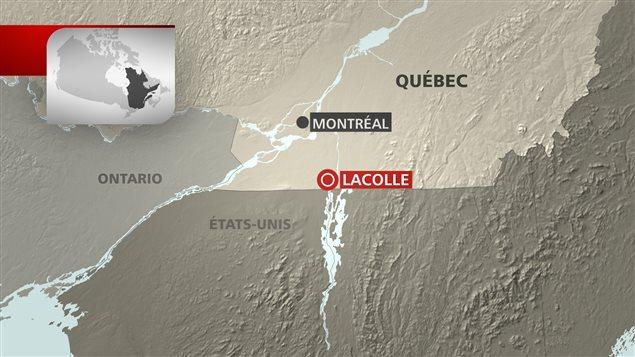 Carte de Lacolle, en Montérégie