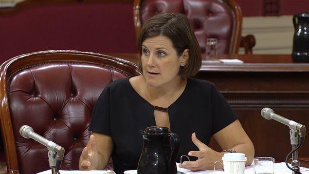 La ministre de la Justice, Stéphanie Vallée, aux audiences sur le projet de loi 59