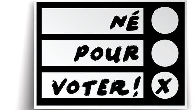 La Fédération de la jeunesse canadienne française a lancé l'initiative Né pour voter.