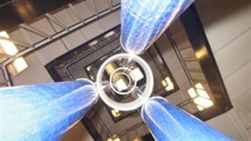 Le premier protoype d'ascenseur spatial conçu par Brendan Quin fait sept mètres.