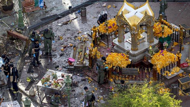 Une bombe a fait 22 morts dans le centre de Bangkok, la capitale thaïlandaise