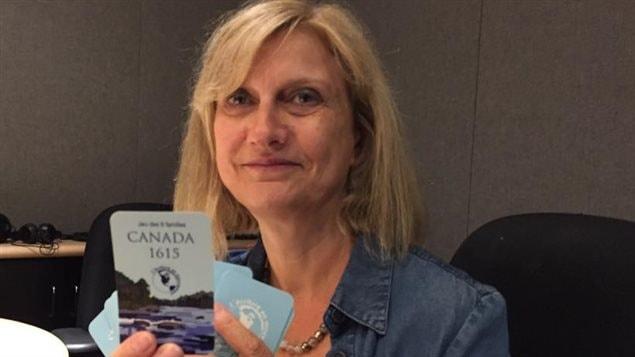 Anne Forrest-Wilson, créatrice du jeu «Canada 1615».