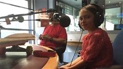 Syrelle et son père en studio