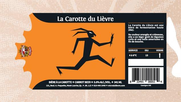 La microbrasserie du Lièvre offre une bière à la carotte