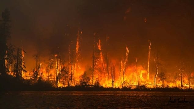 (photo at Lac La Ronge Saskatchewan 2015)It's been another record summer for forest fires across Canada due to changing climate conditions mostly in western and northern Canada where there has been less winter snow and drier summers in the pas couple of years.