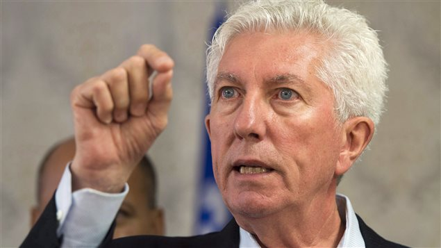 Le chef du Bloc québécois, Gilles Duceppe