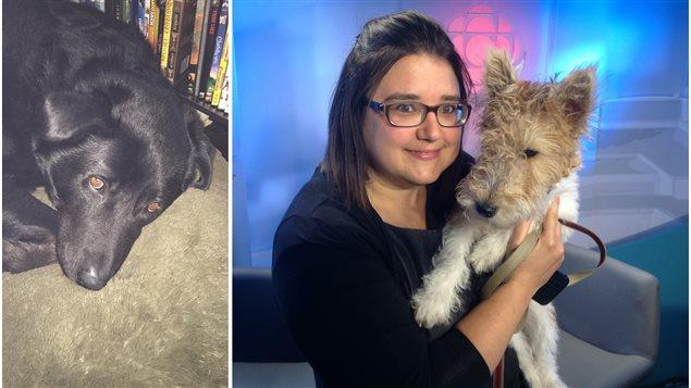 Cruiser, le chien de Lisa Dumont et Hendrix avec Lynne Dupuis.