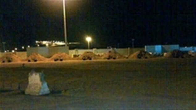 Seven mounds of earth were built in Saudi Arabia in March 2013 in preparation for executions by firing squad. The men only learned of their impending executions when friends sent them this photo.