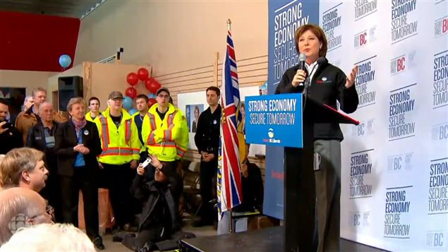 British Columbia Premier Christy Clark is a strong proponent of the gas industry and creation of a multi billion dollar LNG plant to export gas to Asia. some are questioning the wisdom of investing in a carbon based industry.