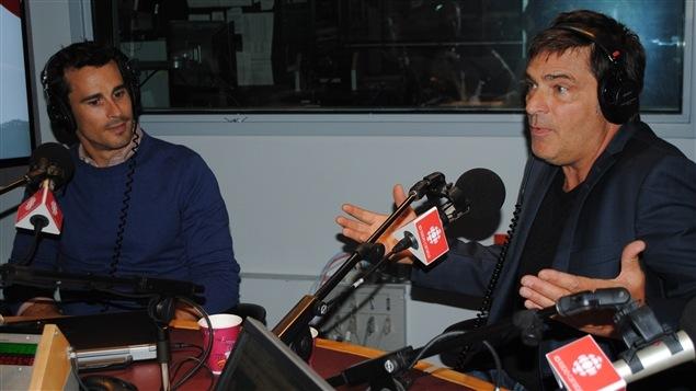 Patrick Hivon et Jean-François Pichette, deux comédiens de la série « Nouvelle adresse