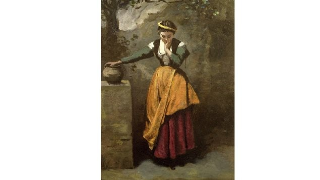 Corot- Dreamer at the Fountain, one of the works stolen in the unsolved 1972 robbery