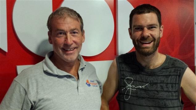 Comment perdre du poids, et éviter de le reprendre? Olivier Poulin à droite et son entraîneur Paul Boisvert.
